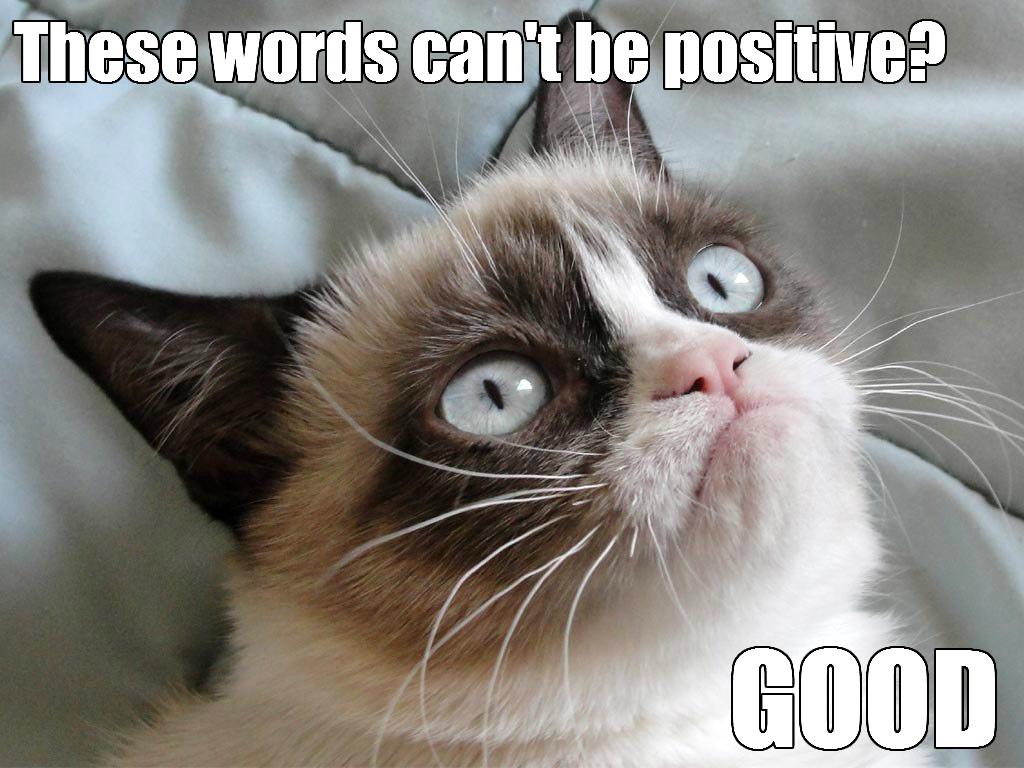 Grumpy Cat likes unpaired words
