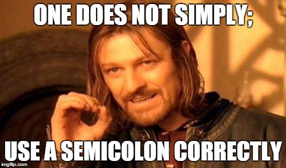 Would i use a semicolon or colon here?