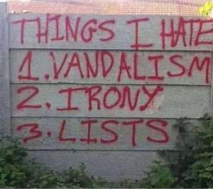 Hatred of lists
