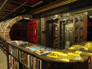 Book tunnel and vault at the Last Bookstore