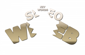 The word Keywords emerges from the word SEO, which emerges from the word Web